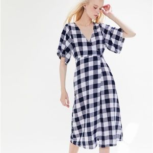 kayla wrap midi dress